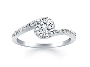 white gold solitaire with accent sparkling 2.75 carats diamonds Ring