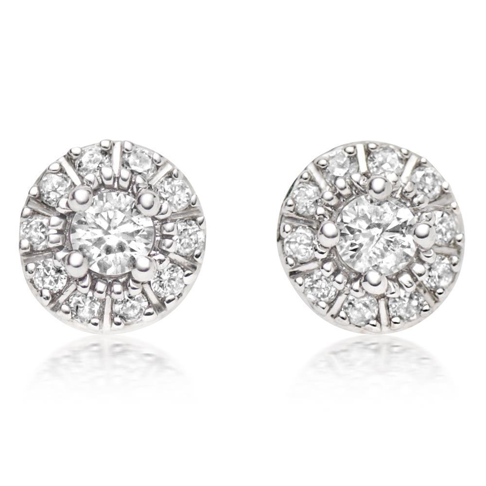 White gold 14k 2.00 carats F VS1/VVS1 diamonds ladies stud earrings