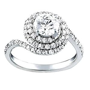White Gold 14k SI1-SI2 Diamond Ring Approx. 1.75 carat