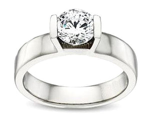 White gold solitaire 3 Carat diamond engagement ring
