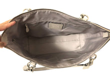 Load image into Gallery viewer, Coach AVA Leather Shopper Tote Bag Handbag (SV/Grey Birch)