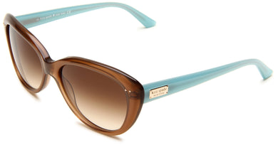 Kate Spade Women's ANGELIQS Cat Eye Sunglasses,Tan Frame/Brown Gradient Lens,One Size