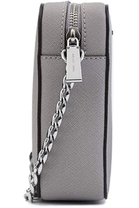 MICHAEL Michael Kors Women's Large East/West Cross Body Bag (Pearl Grey Saffiano)