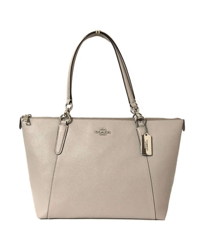 Coach AVA Leather Shopper Tote Bag Handbag (SV/Grey Birch)