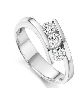 White gold 14K gorgeous round cut 2.25 ct diamonds anniversary ring