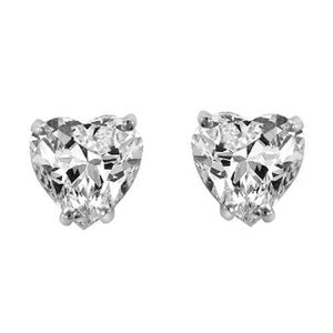 Women gold jewelry 1.30 ct prong set heart cut diamond stud earring