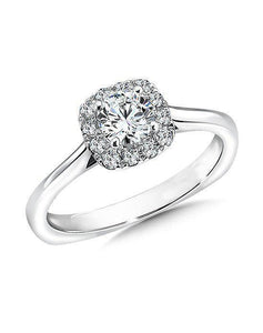 Sparkling round brilliant 2.20 ct diamonds engagement ring white gold
