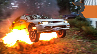 "We Launched Our Honda ""The Yeti"" Off A Ramp Engulfed in Flames!"