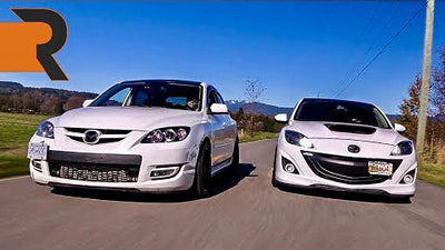 450HP 2nd Gen Mazdaspeed 3 Meets a Stealthy 1st Gen Mazdaspeed 3 | Boosted Hatch Battle!