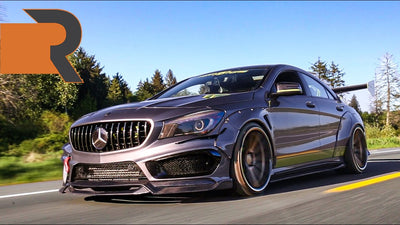 Slammed JDM Inspired Mercedes CLA 250 | Air-Ride Takes on the Streets!