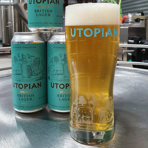 Utopian Brewing Unfiltered Premium British Helles Style Lager 440ml (4.7%)