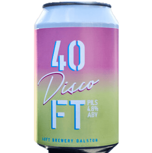 40ft Brewery Disco Pils Pilsner Lager 330ml (4.8%) - indiebeer