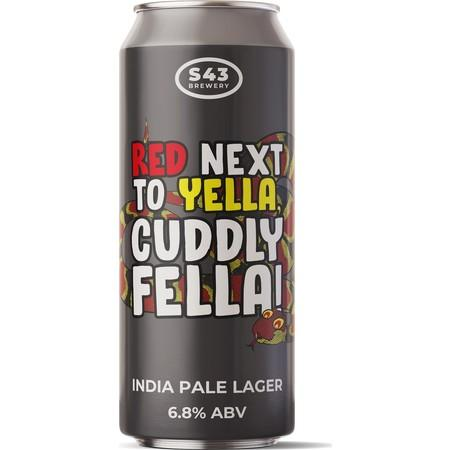 S43 Red Next To Yella, Cuddly Fella! - India Pale Lager 440ml (6.8%)