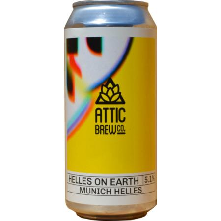 Attic Brew Co. Helles on Earth Lager 440ml (5.1%) - indiebeer