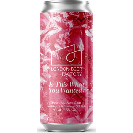 London Beer Factory Is This What You Wanted? - Pink Lemonade Gose w/ Hibiscus & Himalayan Pink Salt Sour 440ml (5.5%)