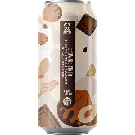 Brew York Extra Brownie Pints Peanut, Hazelnut & Caramel Brownie Milk Stout 330ml (11%) - indiebeer