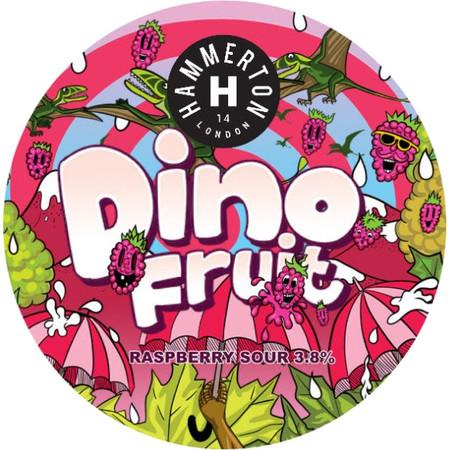Hammerton Dino Fruit Raspberry Sour 440ml (3.8%) - indiebeer