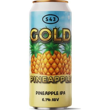 S43 Gold Pineapple Pineappe IPA 440ml (6.1%)