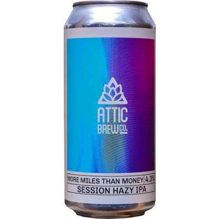 Attic Brew Co. More Miles Than Money Session IPA 440ml (4.3%) - indiebeer