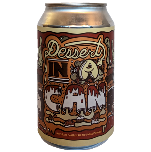 Amundsen Dessert In a Can: Chocolate Covered Salted Toffee Popcorn Imperial Pastry Stout 330ml (10.5%) - indiebeer