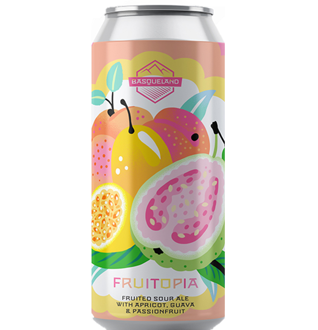 Basqueland Fruitopia Sour with Apricot, Guava & Passion Fruit 440ml (6.5%)