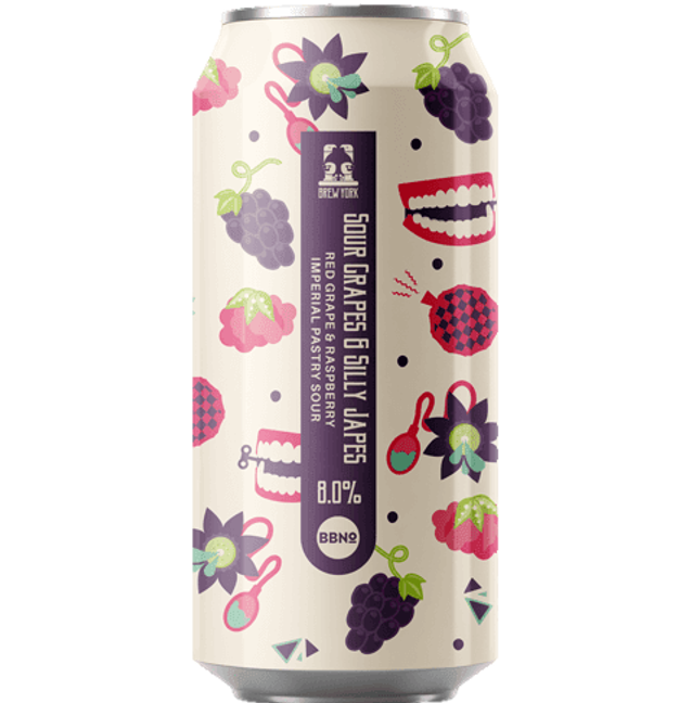 Brew York Sour Grapes & Silly Japes - Red Grape & Raspberry Imperial Pastry Sour 440ml (8%)