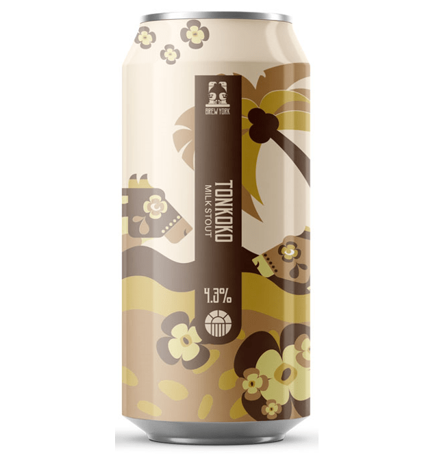Brew York Tonkoko Coconut Tonka Chocolate Vanilla Milk Stout 440ml (4.3%)