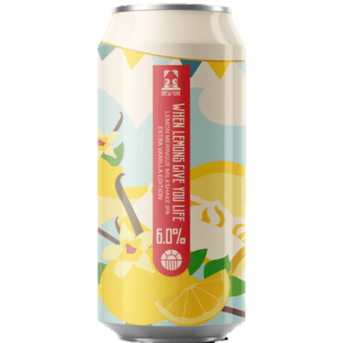 Brew York When Lemons Give You Life - Extra Vanilla Milkshake IPA 440ml (6%)