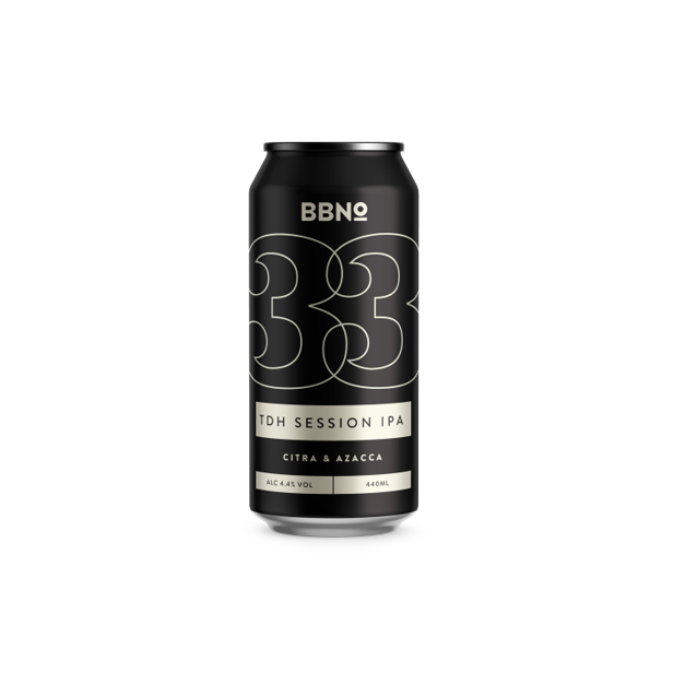 Brew By Numbers (BBNO) 33 -TDH SESSION IPA 440ml (4.3%)