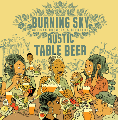 Burning Sky Rustic Table Beer 440ml (3%)