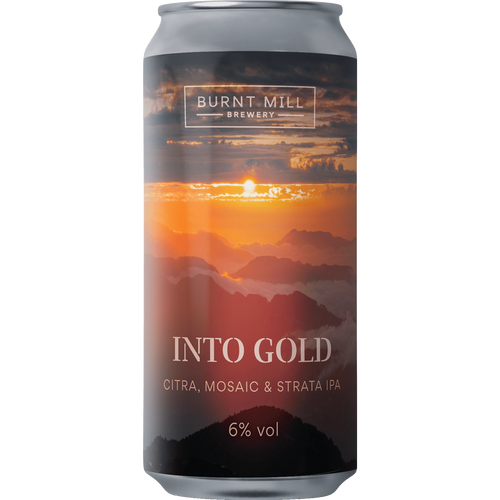 Burnt Mill Into Gold Citra, Mosaic & Strata IPA 440ml (6%)