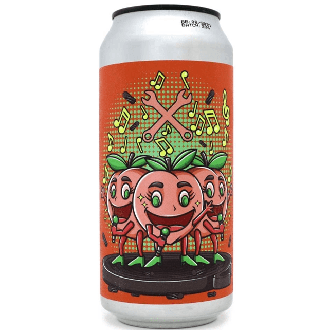 De Moersleutel Peach Perfect Sour Ale w/ Peach, Apricot & Liquorice 440ml (5%)