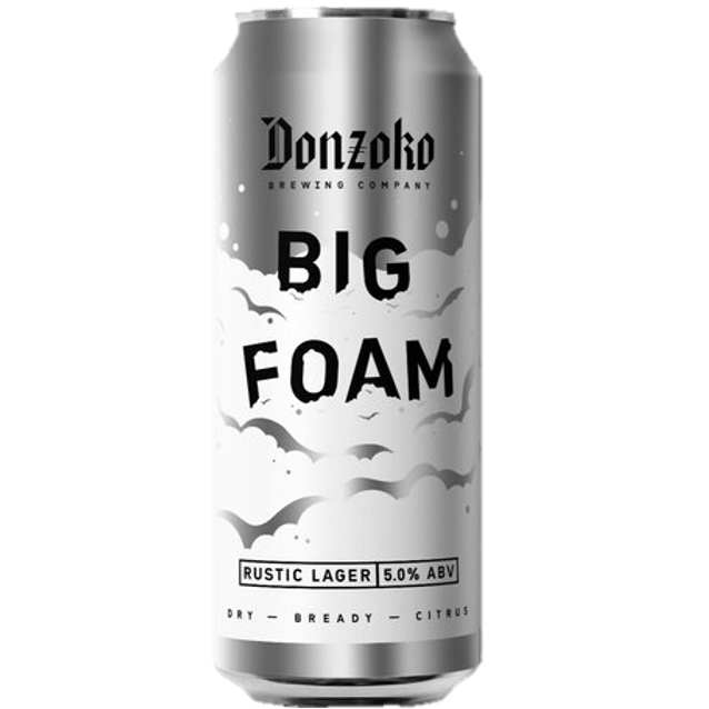 Donzoko Big Foam - Rustic Lager 440ml (5%)