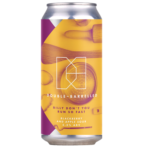Double Barrelled Billy Don't You Run So Fast Blackberry and Apple Sour 440ml (5.3%)