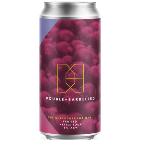 Double Barrelled The Blackcurrant One Sour 440ml (5%) - indiebeer
