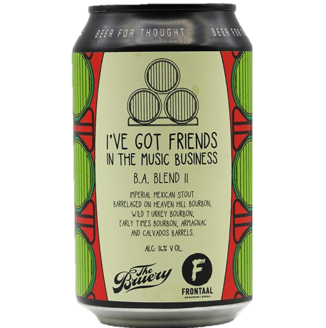 Frontaal x The Bruery collab - BA Friends In Music Business #2 Chilli Imperial Stout330ml (13%)