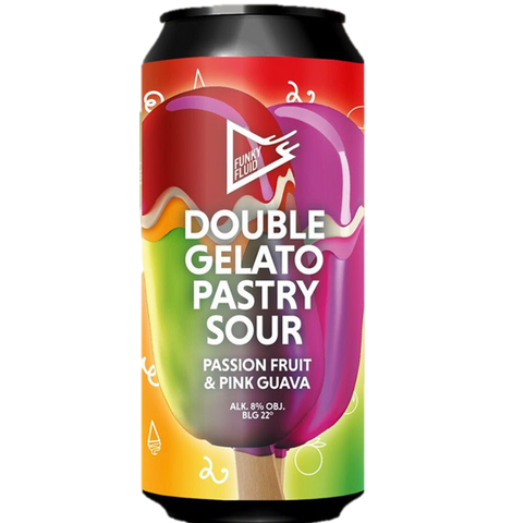 Funky Fluid Double Gelato Imperial Pastry Sour w/ Passion Fruit & Pink Guava 500ml (8%)
