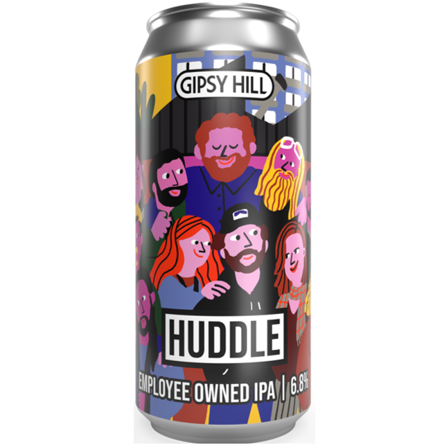 Gipsy Hill Cachetejack Series - Huddle Employee Owned IPA 440ml (6.8%)