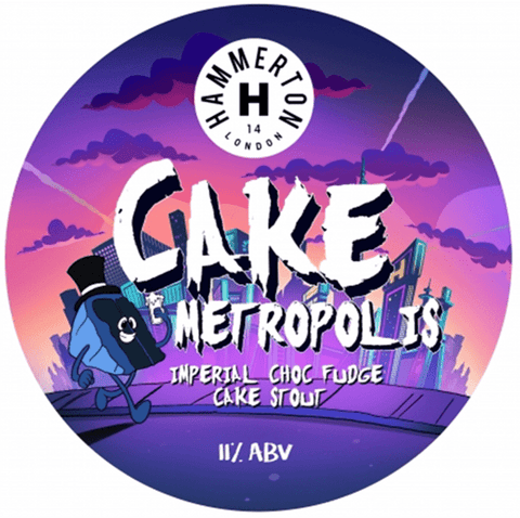Hammerton Cake Metropolis Imperial Chocolate Fudge Cake Stout 440ml (11%) - indiebeer