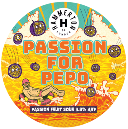 Hammerton Passion For Pepo Passionfruit Sour 440ml (3.8%) - indiebeer
