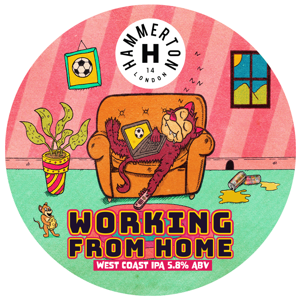 Hammerton Working From Home West Coast IPA 440ml (5.8%)