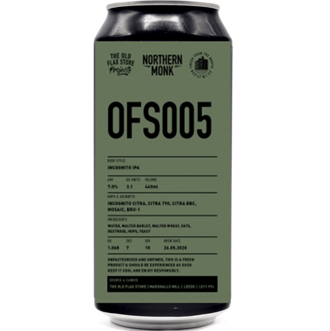 Northern Monk OFS005 IPA 440ml (7%) - indiebeer