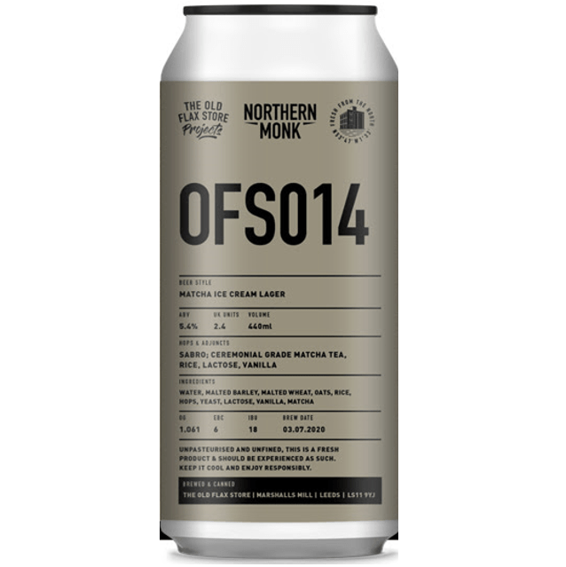 Northern Monk OFS014 - Matcha Ice Cream Lager 440ml (5.4%)