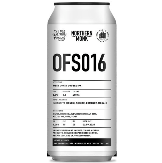 Northern Monk Old Flax Store OFS016 - Incognito West Coast DIPA 440ml (8.7%)