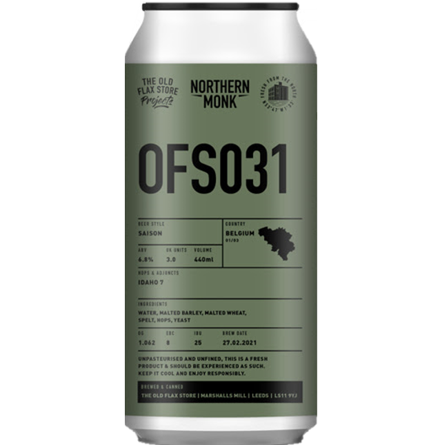 Northern Monk OFS031 Saison 440ml (6.8%)