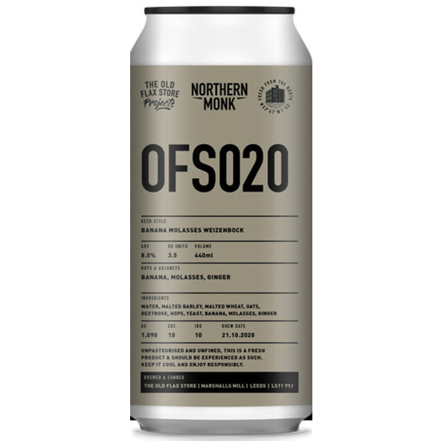 Northern Monk OFS020 Banana Molasses Weizenbock 440ml (8%)