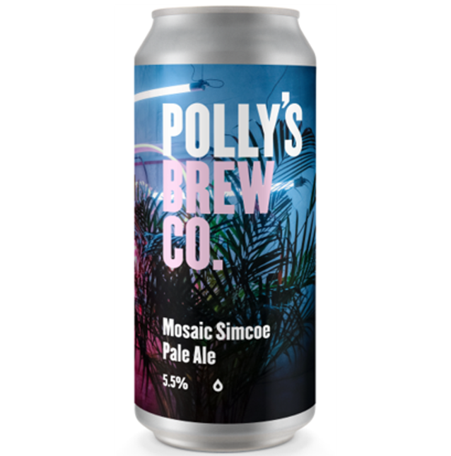Pollys Brew Co Mosaic Simcoe Pale Ale 440ml (5.5%)