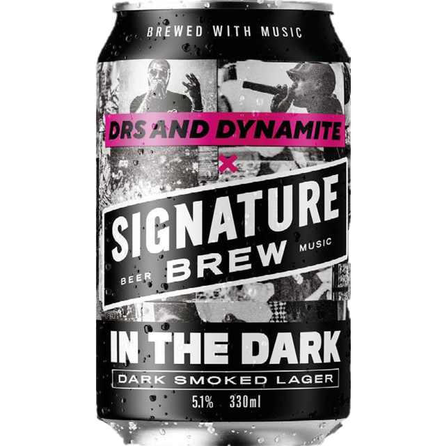 Signature x MC Dynamite Collab - In The Dark - Dark Smoked Lager 330ml (5.1%)