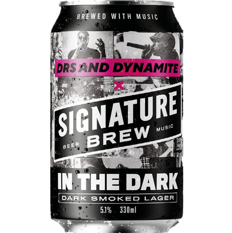 Signature x MC Dynamite Collab - In The Dark - Dark Smoked Lager 330ml (5.1%) - indiebeer