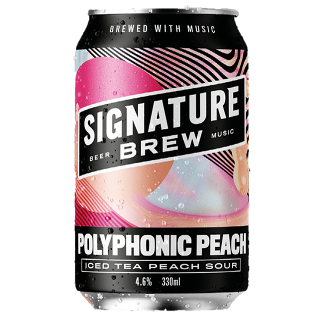 Signature Brew Polyphonic Peach - Iced Tea Sour  330ml (4.6%)